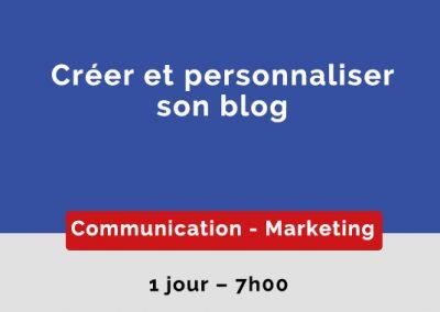 Créer et personnaliser son blog