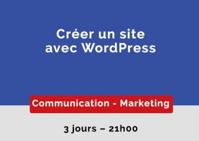 Créer un site avec WordPress
