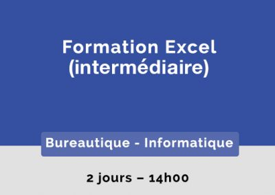 Formation Excel – Intermédiaire