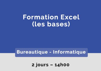 Formation Excel – Les bases