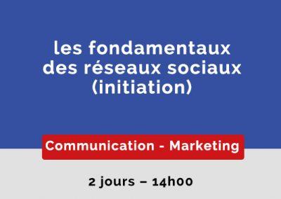 les fondamentaux des réseaux sociaux (Initiation)