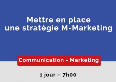 Mettre en place une stratégie M-Marketing