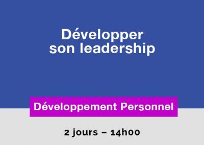 Développer son Leadership