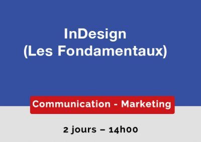 Indesign : les Fondamentaux